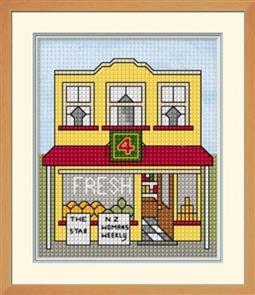 Lyn Manning  Kiwi Town - Grocery Shop - Cross Stitch Kit
