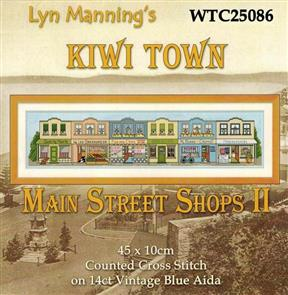 Lyn Manning  Cross Stitch Kit - Main Street Shops II
