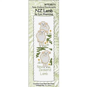 Lyn Manning  Cross Stitch Kit Bookmark - NZ Lamb