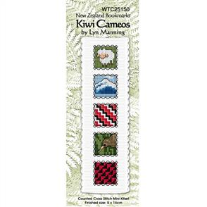 Lyn Manning  Cross Stitch Kit Bookmark - Kiwi Cameos