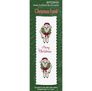 Lyn Manning  Cross Stitch Kit Bookmark - Christmas Lamb