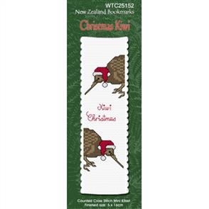 Lyn Manning  Cross Stitch Kit Bookmark - Christmas Kiwi