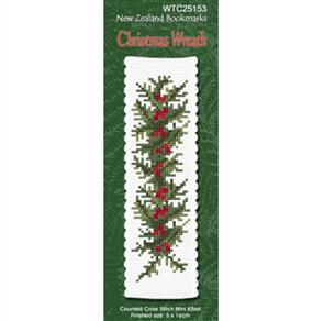 Lyn Manning  Cross Stitch Kit Bookmark - Christmas Wreath