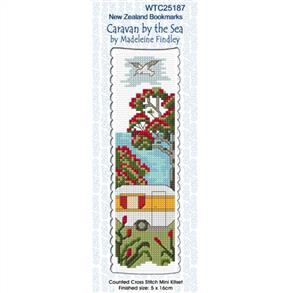 Lyn Manning  Cross Stitch Kit Bookmark - Caravan by the Sea