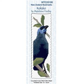 Lyn Manning  Cross Stitch Kit Bookmark - Kokako