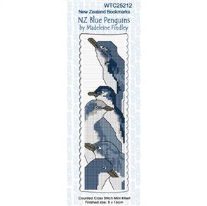 Lyn Manning  Cross Stitch Kit Bookmark - NZ Blue Penguins