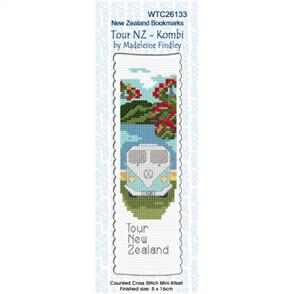 Lyn Manning  Cross Stitch Kit Bookmark - Tour NZ - Kombi