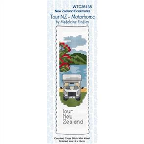 Lyn Manning  Bookmark Cross Stitch Kit - Tour NZ - Motorhome