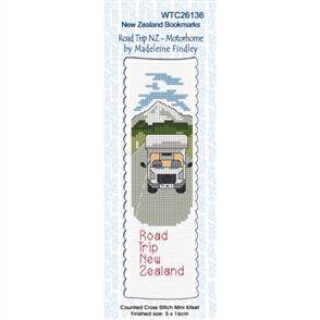 Lyn Manning  Bookmark Cross Stitch Kit - Road Trip NZ - Motorhome