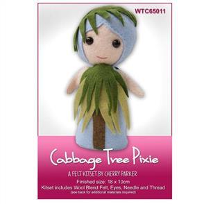 CraftCo  Cabbage Tree Pixie - Felt Kit Set