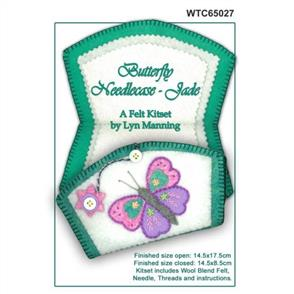 Lyn Manning  Felt Needlecase Kit - Butterfly - Jade