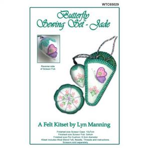 Lyn Manning  Felt Sewing Set - Butterfly - Jade