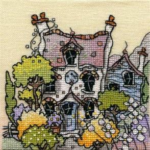 Michael Powell  Mini Cross Stitch Kit: Lavender Cottage
