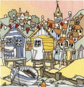 Michael Powell  Cross Stitch Kit: Beach Huts III