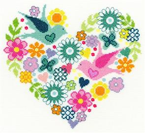 Bothy Threads  Heart Bouquet - Cross Stitch Kit