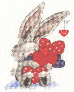 Bothy Threads  Cross Stitch Kit - Bebunni - Whole Lot of Love