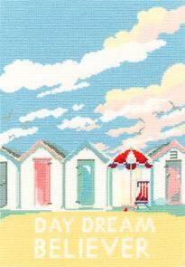 Bothy Threads  Cross Stitch Kit - Vintage Beach Huts
