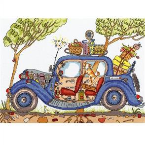 Bothy Threads  Cut Thru' Vintage Car - Cross Stitch Kit