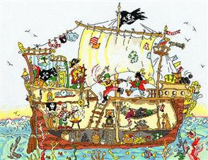 Bothy Threads  Cut Thru' Pirate Ship - Cross Stitch Kit