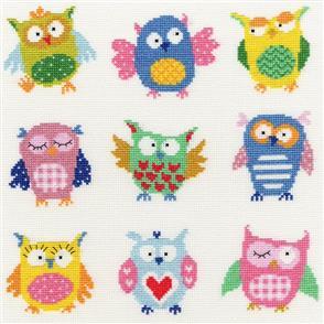 Bothy Threads  Cross Stitch Kit - Slightly Dotty Owls