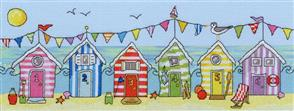 Bothy Threads  Beach Hut Fun - Cross Stitch Kit