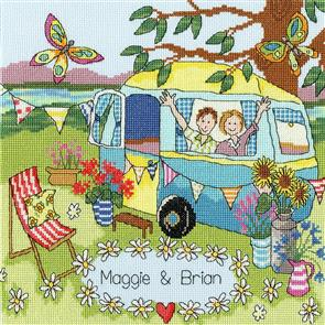 Bothy Threads  Cross Stitch Kit - Our Caravan
