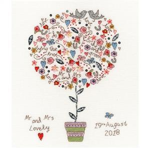 Bothy Threads  Cross Stitch Kit - Love Vows