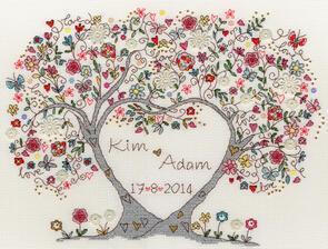 Bothy Threads  Love Blossoms - Cross Stitch Kit