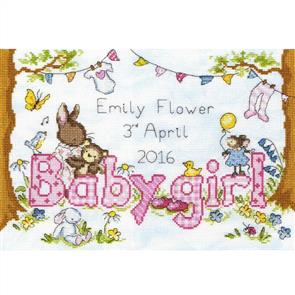 Bothy Threads  Cross Stitch Kit - Bunny Love Girl