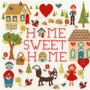 Bothy Threads  Cross Stitch Kit - Home is Where The Heart Is