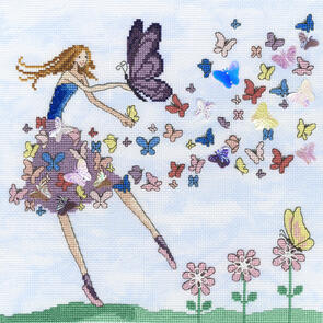 Bothy Threads  Cross stitch Kit - Butterfly Dance