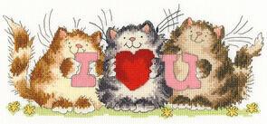 Bothy Threads  Cross Stitch Kit - I Heart U