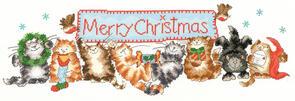 Bothy Threads  Cross Sticth Kit - Merry Catmas
