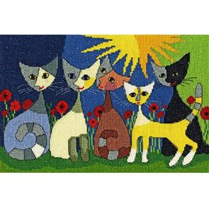 Bothy Threads  Cross Stitch Kit - Five Cats