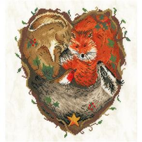 Bothy Threads  Cross Stitch Kit - Heart of the Woodland