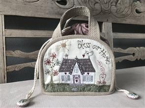 Lynette Anderson  Bless Our Home drawstring bag (pattern only)