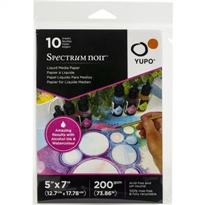 "Spectrum Noir  Yupo Liquid Media Paper 73.86lb 10/Pkg - 5""X7"""