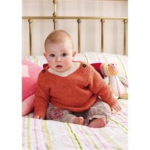 Rowan Knitting Pattern - Dickens Round Neck Jumper with Shoulder Fastenings