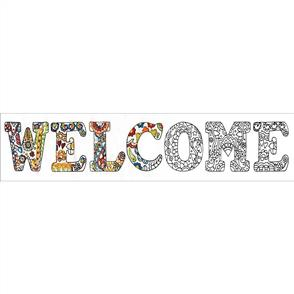 Design Works Zenbroidery Stamped Embroidery - Welcome