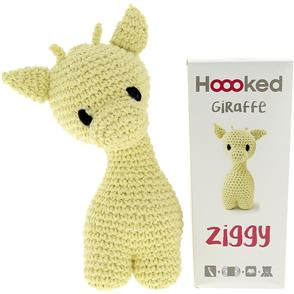 Hoooked  Ziggy Giraffe Kit - Popcorn