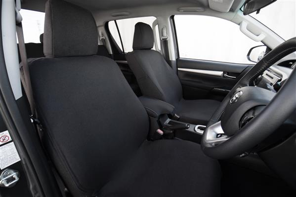 Nissan Navara Double Cab NP300 (D23) 2015 onwards Premium Fabric Seat Covers