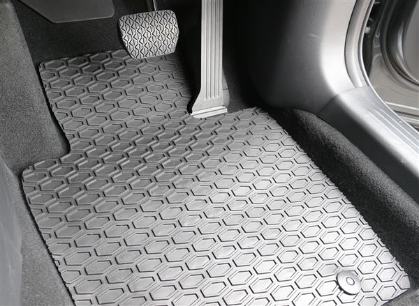 All Weather Rubber Car Mats to suit Kia Carens/Rondo (7 Seat) 2007-2013