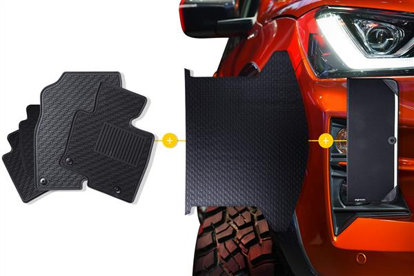 Rubber Mats Bundle to suit Ford Fiesta (6th Gen Facelift Hatch) 2012-2019