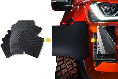 Rubber Mats Bundle to suit Isuzu D-Max Spacecab (2nd Gen Facelift) 2015-2020