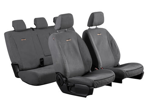 TUFFSEAT 12oz Canvas Seat Covers to suit Ford Ranger Wildtrak (Double Cab PXII-PXIII) 2016 onwards