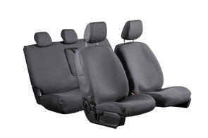 8oz Canvas Seat Covers to suit Ford Transit Custom (SWB 2nd Gen 10 SPD Auto) 2021+