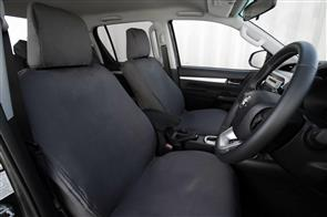 8oz Canvas Seat Covers to suit Toyota Hilux Double Cab (8th Gen Auto) 2015+