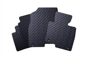 All Weather Rubber Car Mats to suit Nissan Navara Double Cab (D40) 2005-2010
