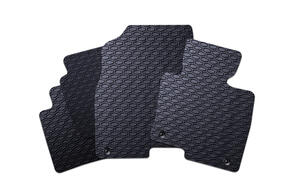 All Weather Rubber Car Mats to suit Nissan Navara Double Cab Facelift (D23) 2021+