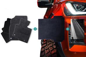 Carpet Mats Bundle to suit Mitsubishi Triton Double Cab (5th Gen GLX GLS VRX) 2015-2018